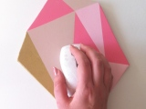 DIY Faceted Gem Mouse Pad