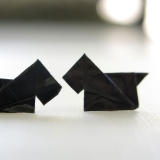 DIY Origami Scottie Dog Earrings